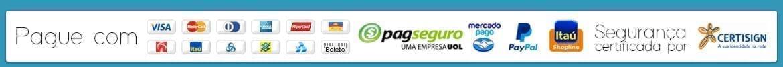 Info pagamentos e certificado de segurança