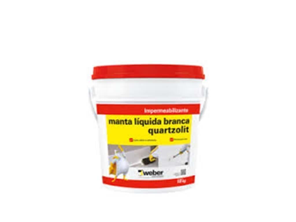 Manta Líquida Branca Quartzolit (Balde 18KG)